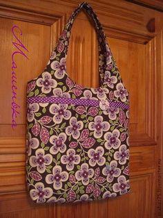 """Сумка """"Ах, лето....."""" - фиолетовый,цветочный,сиреневая,женская сумка,оригинальная летняя сумка"""