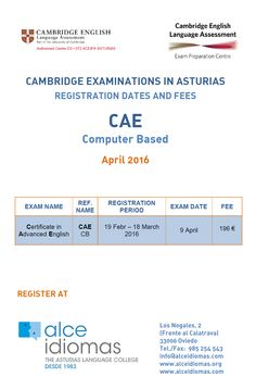 EXÁMENES DE CAMBRIDGE nueva convocatoria