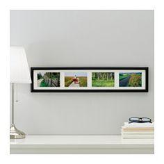 IKEA - MARIETORP, Cadre 4 motifs, Peut être accroché à l'horizontale ou à la verticale selon l'espace disponible.Passe-partout au Ph neutre; ne risque pas de décolorer l'image.Protection en plastique résistant pour une plus grande sécurité.
