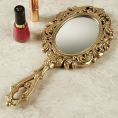 Hello Belle! - Bellatrix Hand Mirror Gold - from Touch of Class