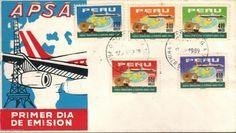 Peru 1969 FDC Primer Viaje a Europa Compañia. Aviacion Aerolineas Peruanas S.A.