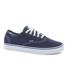Look at this #zulilyfind! Navy & White Classic Canvas Sneaker #zulilyfinds