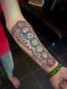 chakra tattoo on arm