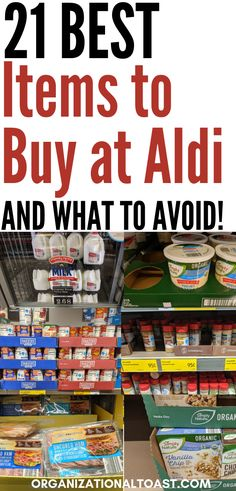 The best things to buy at Aldi and what you should avoid. Aldi can save you money if you shop smart and take advantage of prices on these items. Organic Almond Milk, Organic Yogurt, Organic Chocolate, Aldi Shopping List, Shopping Hacks, Healthy Yogurt, Healthy Food, Eating Healthy, Healthy Groceries