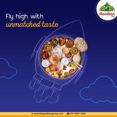 This summer vacation, fly high with the unmatched taste. Visit us or call us at 079 2687 1222 Gujarati Thali, Gym Banner, Navratri Recipes, Cow Ghee, Indian Sweets, Advertising Design, Flyer Design, Indian Food Recipes, Krishna