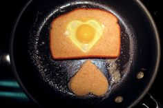 Valentine's Day Breakfast Idea: Heart-Shaped Egg in a Nest