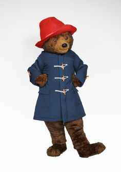 Paddington Bear Promotional Costume for schools, libraries, and bookstores.  Plus links to FREE Children's Activity Sheets. #teachers #Library