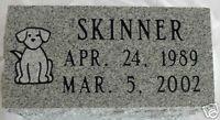 Granite Pet Grave Marker 5x10 Dog Monument Memorial   eBay