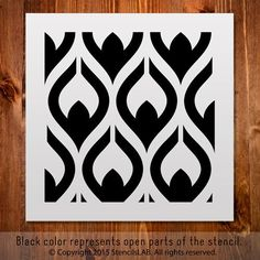"""Small Pattern Stencil for Your Painting Ideas (11"""""""" x 11"""""""")"""