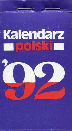 """""""Kalendarz polski '92"""" Published by Wydawnictwo Iskry 1991"""