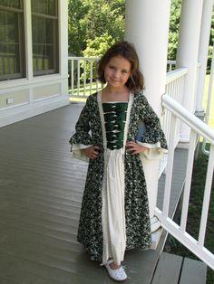 Girls Colonial Dress by EmilyandIzzy on Etsy, $150.00