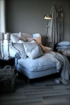 What a great cozy chair to curl up in! What a great cozy chair to curl up in! Cool Chairs For Bedroom, Bedroom Chair, Cozy Bedroom, Bedroom Furniture, Master Bedroom, Comfy Reading Chair, Big Comfy Chair, Cozy Chair, Reading Chairs