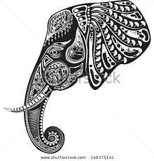 elephant head illustrations - Google Search