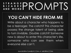 Strange Bizarre & Weird Prompts Writing Prompts For Writers, Picture Writing Prompts, Dialogue Prompts, Creative Writing Prompts, Story Prompts, Writing Advice, Writing Help, Writing A Book, Writing Ideas