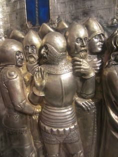 14thC Silver Altar of St Jacopo, Pistoia, Italy Underlapping Fauld