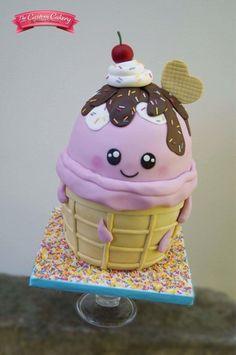 Ice Cream Cutie  - Cake by The Custom Cakery