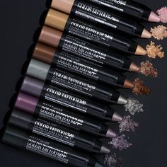 Intense color that lasts all day. Maybelline Color Tattoo Concentrated Crayon provides easy application, just swipe for vibrant color without any fall-out or mess. The smooth pencils leave a soft, creamy finish that allows for blending and then set for a 24 hour look. Experiment with the collection of 10 shades to create soft looks for spring or deep, smokey looks for night. Unleash the artist in you.