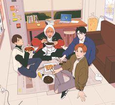 Character Aesthetic, Aesthetic Art, Character Design, Kpop Drawings, Jeno Nct, Kpop Fanart, I Love Anime, Pretty Art, Nct Dream