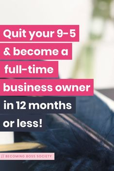 Are you ready to quit your 9-5 & turn your side-hustle into a full-time business? If so, The Becoming Boss Society is for you! It's the go-to place for ladies like you ready to quit your day job! My signature 4-Step Freedom Framework will show you the EXACT steps you need to find your dream clients/customers, prepare to quit your day job, help you make money online & build a community online! // Join now at BecomingBossSociety.com