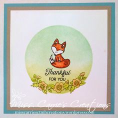 June Stamp of the Month (Hello Foxy)