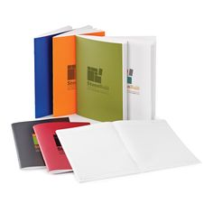 EC5260 AMICO Stone Paper Notebook - Colors: blue, black, red, green, orange or white. - Imprint Method: Silk screened or 4-Color process.