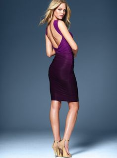purple ombre open back dress  victorias secret $88