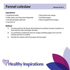 Fennel coleslaw #healthyinspirations #healthyrecipes