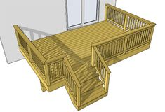 This basic 1 level x deck is an easy to build and economical choice. You may reposition the stairs and adjust the deck height to suit your needs. Free Deck Plans, Deck Building Plans, Easy Deck, Laying Decking, Deck Construction, Deck Stairs, Deck Builders, Front Deck, Front Porch