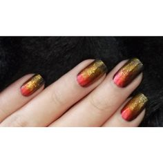Hunger Games Nail Art May the Odds Be Ever in Your Favor Lucky... ❤ liked on Polyvore featuring nails, beauty and pictures