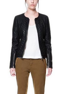 i actually need this ;)  Image 2 of FAUX LEATHER BIKER JACKET from Zara