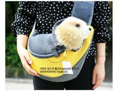 Pet Bag Dog Carrier Cross Bag Yellow * Check this awesome product by going to the link at the image.