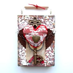 Key To My Heart Canvas by Dana Tatar for Canvas Corp Brands