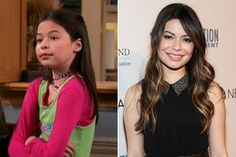 Miranda Cosgrove from Drake and Josh then and now.  Her mouth now fits her face.