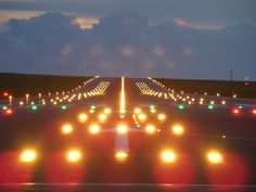 airport runway night - Google Search