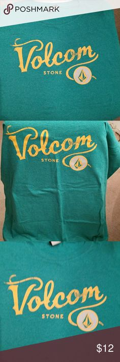Volcom Green and Yellow T-Shirt Green and yellow, 60% cotton, 40% Polyester fabric from Volcom. Volcom Shirts Tees - Short Sleeve