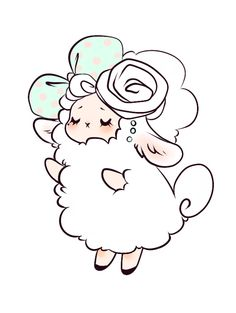 "Photo from album ""Овечки"" on Yandex. Arte Do Kawaii, Kawaii Art, Kawaii Drawings, Cute Drawings, Sheep Drawing, Lamb Drawing, Sheep Cartoon, Cute Sheep, Happy Eid"