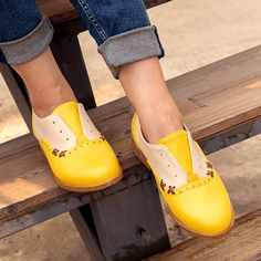 Yellow All Season Pu Loafers – cuteshoeswear how to wear loafers loafers outfit work loafers outfit fall loafers with socks loafers style Loafers With Socks, How To Wear Loafers, Loafers Outfit, Casual Loafers, Loafers For Women, Loafer Flats, Women's Oxfords, Oxford Online, Low Heels