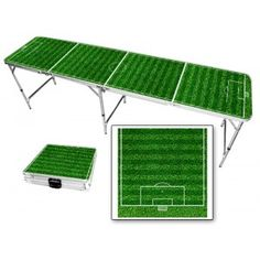 Soccer Field 8 Foot Portable Folding Tailgate Table from TailgateGiant.com