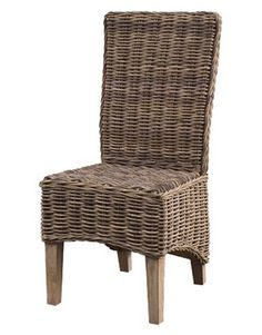The Whitehaven Rattan Dining Chair With Cushion is made from rustic rattan and perfectly complements the three dining tables in the range. Rattan Dining Chairs, Living Room Chairs, Dining Tables, Dining Room, Wingback Armchair, Mahogany Furniture, Occasional Chairs, Club Chairs, Accent Chairs