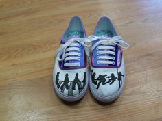 I did it! I created my own Beatles shoes - I drew different songs on the sides of each shoe. :)