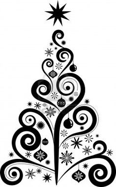 Illustration of Graphic elegant Christmas tree vector art, clipart and stock vectors. Christmas Drawing, Christmas Art, All Things Christmas, Christmas Holidays, Christmas Ornaments, Christmas Tree Vinyl, Christmas Tree Zentangle, Christmas Patterns, Christmas Pillow