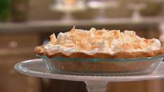 One of Martha's favorites: This pie, made with coconut milk, has a wonderfully rich coconut flavor -- and plenty of whipped cream and toasted coconut. Toasted Coconut, Coconut Cream, Coconut Milk, Lemon Cream, Southern Desserts, Cream Pie Recipes, Classic Desserts, Thing 1, Baked Goods