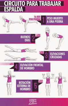 Circuito para trabajar espalda! // Consejos de #nutrición  -  #deporte  - #Fitness para mantenerte en forma en casa. ›http://instagram.com/fitnesshogar