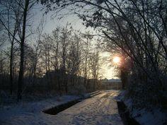 Strada collinare e tramonto - 22/12/09
