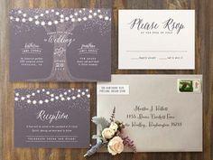 Garden Lights wedding invitations by Hooray Creative for Minted.com
