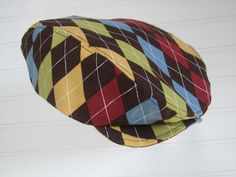 Baby Boy Hat Brown Argyle Newsboy Hat for Baby / by Seams2u, $35.00