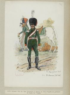 Colonel Vial of 26th Chasseurs à cheval, 1812  by Ernest Fort