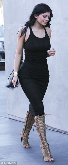 Coordinated... Kylie and Kris Jenner stepped out in West Hollywood on Tuesday for a mother...
