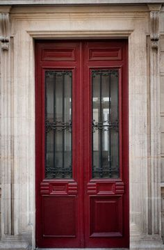 Paris Photo - The Red Door, Parisian Architecture