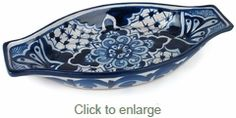 Small Blue & White Talavera Tapa Dish